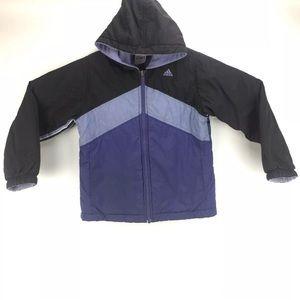 Adidas Kids Reversible Hooded Jacket Size S 7-8